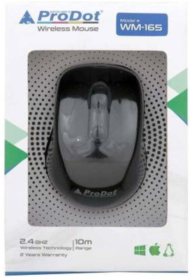 PRODOT wireless mouse 1 Wireless Laser Gaming Mouse Bluetooth, 2.4GHz Wireless, Black PRODOT Controllers