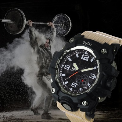 Sylvi 1DG-CRM Sports Look Designer Collection Premium Quality Top Trending Boys Wrist Analog-Digital Watch  - For Men