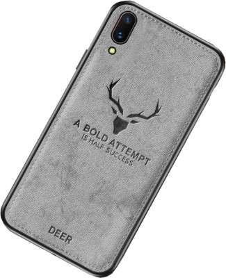 kinshu Back Cover for Vivo V11 Pro Back Cover | Deer Pattern Back Case(Grey, Dual Protection)
