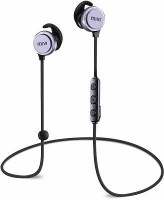 Mivi Thunder Beats Bluetooth Headset(Gun metal/Black, In the Ear)