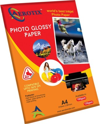 Aerotix Glossy Unruled A4 Photo Paper