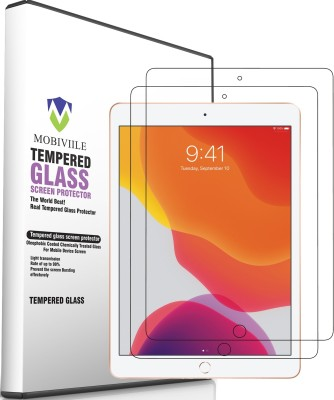 MOBIVIILE Tempered Glass Guard for Apple iPad 7th Gen 10.2 inch(Pack of 2)