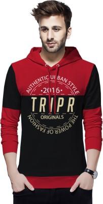 TRIPR Typography Men Hooded Neck Multicolor T-Shirt