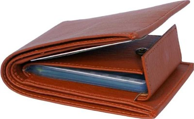 FnS Men Casual Brown Artificial Leather Wallet(8 Card Slots)