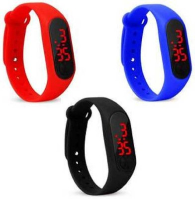unequetrend digital band Digital Watch Set of 3 perfect Digital led Watch Digital Watch  - For Boys & Girls