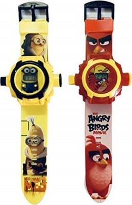 UNEQUETREND digital projector watch angry bird Digital angry bird projector watch red and yellow for boys & girls Digital Watch  - For Boys & Girls