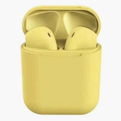 CHG Inpods 12 Earbuds with premium sound quality 81 Bluetooth Headset(Yellow, In the Ear)