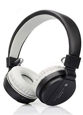 KLUZIE SH-12 Headphone With FM and SD Card Slot Bluetooth Headset(Black, Wireless over the head)