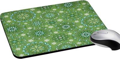 RADANYA Green Floral Print Rectangular Computer Mouse Pad Non-Slip Rubber Base for Gaming Laptop Pc Computer Mousepad(Green)