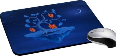 RADANYA Blue Night Sky Print Rectangular Computer Mouse Pad Non-Slip Rubber Base for Gaming Laptop Pc Computer Mousepad(Blue)