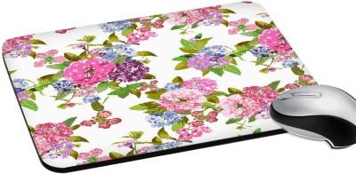 RADANYA Floral Print Rectangular Gaming Mouse Pad 8'' Mousepad(White)