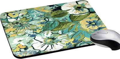 RADANYA Floral Printed Rectangular Mouse Pads for Desktop and Laptop Computers 8Inch(Multicolor) Mousepad(Multicolor)