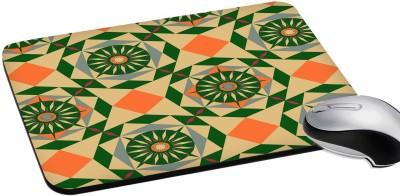 RADANYA Mousepads Waterproof Foldable Mouse Pad with Nonslip Base for Laptop & Desktop Mouse Rectangular 8'' Mousepad(Green)