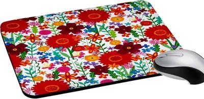 RADANYA Multicolor Floral Mousepads Waterproof Foldable Mouse Pad with Nonslip Base for Laptop & Desktop Mouse Rectangular 8'' Mousepad(Multicolor)
