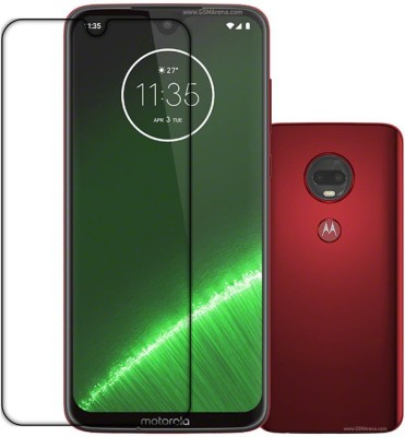 k2-Tech square Front and Back Tempered Glass for MOTO G7 PLUS(Pack of 2)