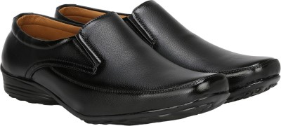 Kraasa Men Synthetic Leather Office Black Formal Shoes Corporate Casuals For Men(Black)