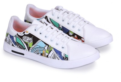 My Walk Trending Shoes,Partywear White Sneakers For Men(White)