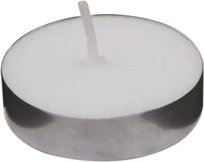 ToyHub Wax Tealight Candles (Set of 100, Unscented) Candle(White, Pack of 1)