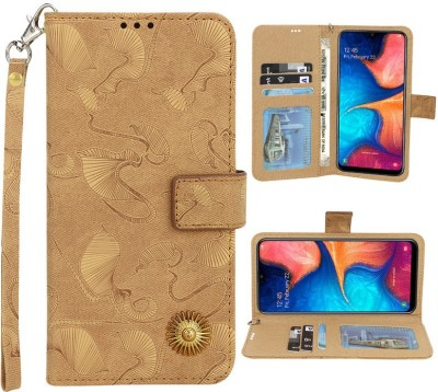 Huma World Flip Cover for Samsung Galaxy J7(16)(Gold, Dual Protection)