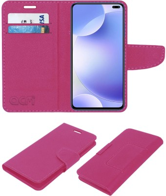 ACM Flip Cover for Poco X2(Pink, Cases with Holder)