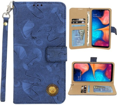 Huma World Flip Cover for Samsung Galaxy J7(16)(Blue, Dual Protection)