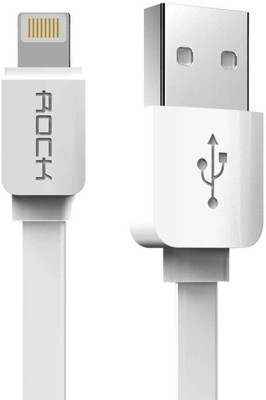 Rock RB056315 1 m Lightning Cable (Compatible with iPHONE, White)