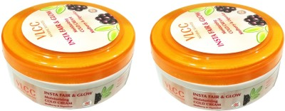 VLCC INSTA Fair and Glow Moistorizing Cold Cream(75G) Set of 2(150 g)