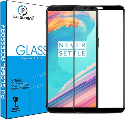 P&I GLOBAL Edge To Edge Tempered Glass for OnePlus 5T(Pack of 1)