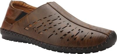 SHOEtap Men Tan Sandals