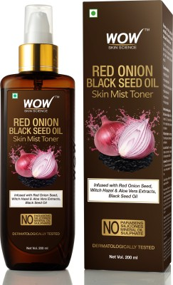 WOW SKIN SCIENCE Red Onion Skin Mist Toner with Red Onion Seed, Witch Hazel & Aloe Vera Extracts, Black Seed Oil Men & Women(200 ml)