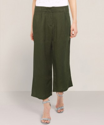 Annabelle by Pantaloons Regular Fit Women Green Trousers