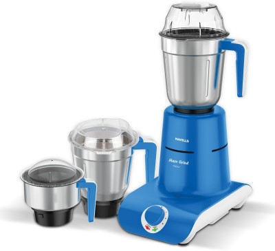 HAVELLS MaxxGrind 750 W Mixer Grinder (3 Jars, Blue)