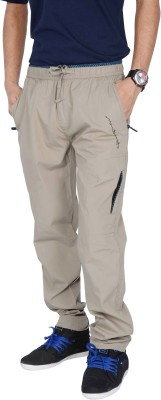 Mountain colours Solid Men Beige Track Pants