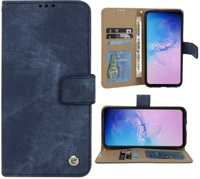 Huma World Flip Cover for Samsung Galaxy J7(16) in Jeans(Blue, Dual Protection)
