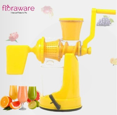 Floraware Plastic Hand Juicer Yellow Coloured with Waste Collector Fruit & Vegetable(Yellow Pack of 1)