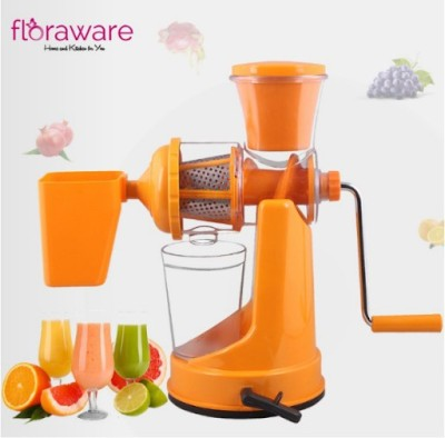 Floraware Plastic Hand Juicer Orange Coloured with Waste Collector Fruit & Vegetable(Orange)