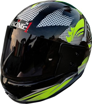 Racing FULL FACE SPORT UNBREAKABLE HELMET(BLACK) Motorbike Helmet(Multicolor)