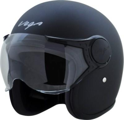 VEGA Jet W/Visor Motorbike Helmet(Dull Black)