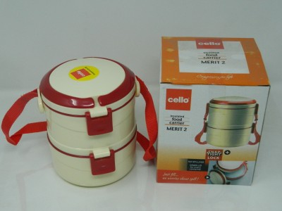 cello MERIT 2 Containers Lunch Box(200 ml)