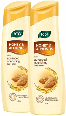 Joy Honey & Almonds Advanced Nourishing Body Lotion(Pack of 2 x 300 ml) (600 ml)