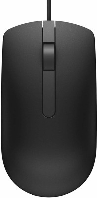Dell MS116 Wired Optical Mouse   USB 3.0, USB 2.0, Black  Dell Mouse
