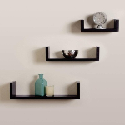 Online Craftbuzz U-Shape MDF Floating Wall Shelves for Decoration and Living Room...
