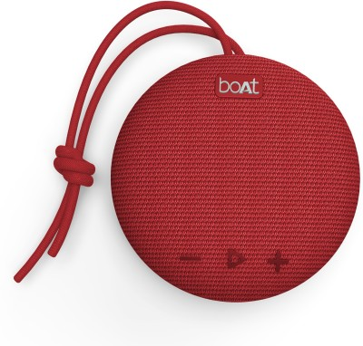 boAt Stone 190F 5 W Bluetooth  Speaker(Red, Stereo Channel)