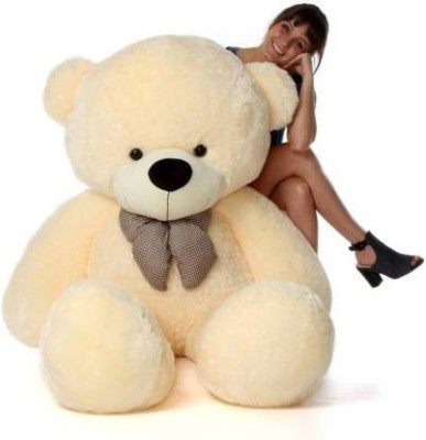 happybear 3Feet Teddy bear For aniversary gift 93cm   93 cm Cream happybear Soft Toys