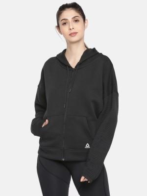REEBOK Full Sleeve Solid Women Sweatshirt REEBOK Women\'s Sweatshirts