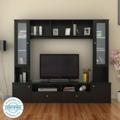 Flipkart Perfect Homes Webster Engineered Wood TV Entertainment Unit(Finish Color - Melamine Wenge)