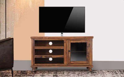 Furnitureshri Shisham Wood TVC TV Unit Solid Wood TV Entertainment Unit(Finish Color - brown)