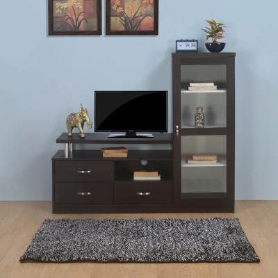 @home by Nilkamal Engineered Wood TV Entertainment Unit(Finish Color - Coffee)