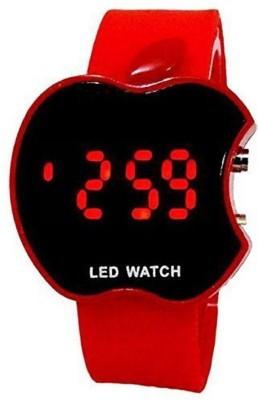 UNEQUETREND apple shape led digital watch Yuuto fashion apple shape kids red led digital wrist watch for boys and girls Digital Watch  - For Boys & Girls