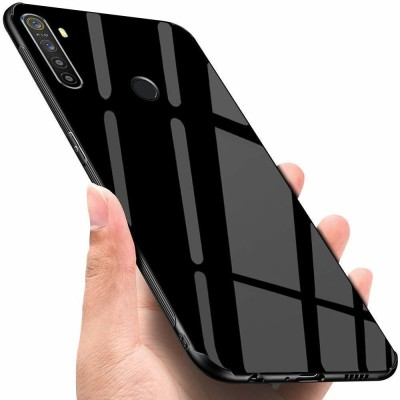 COVERBLACK Back Cover for Realme 5 Pro(Black, Dual Protection)